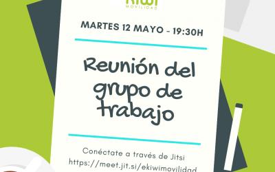 Reunión de trabajo – Martes 12 mayo – 19:30h