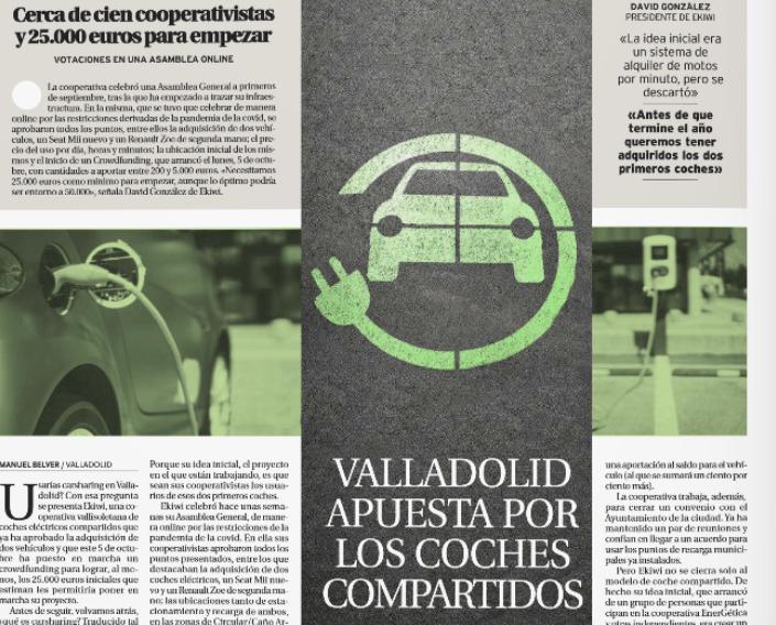 """Entrevista en el periódico """"El día de Valladolid"""""""