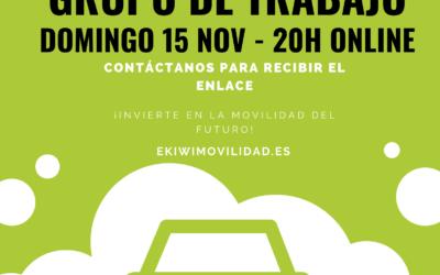 Reunión de trabajo general – Domingo 15 Nov – 20h