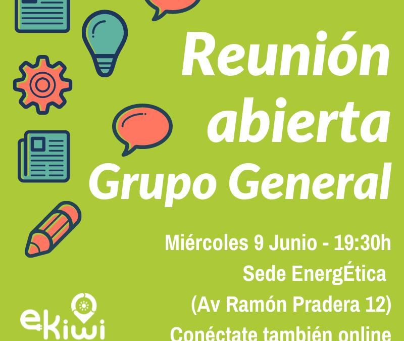 Reunión general – Miércoles 9 junio 19:30h. Te esperamos