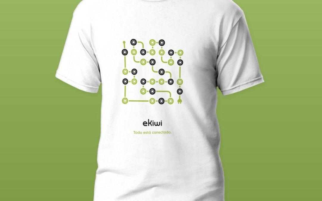 ¿Quieres vestir a la última?. ¡Aquí tienes la camiseta de eKiwi!